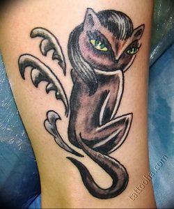 Фото рисунка тату кошка 09.10.2018 №260 - cat tattoo - tattoo-photo.ru