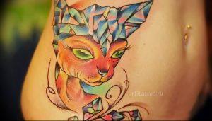 Фото рисунка тату кошка 09.10.2018 №371 - cat tattoo - tattoo-photo.ru