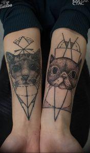 Фото рисунка тату кошка 09.10.2018 №390 - cat tattoo - tattoo-photo.ru