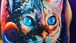 Фото рисунка тату кошка 09.10.2018 №392 - cat tattoo - tattoo-photo.ru