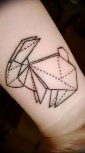 Фото рисунка тату оригами 12.10.2018 №127 - origami tattoo - tattoo-photo.ru