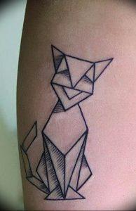 Фото рисунка тату оригами 12.10.2018 №133 - origami tattoo - tattoo-photo.ru