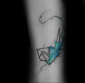 Фото рисунка тату оригами 12.10.2018 №135 - origami tattoo - tattoo-photo.ru