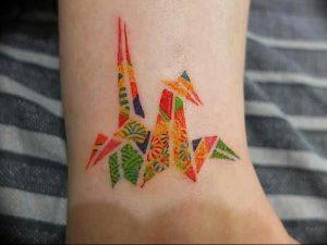 Фото рисунка тату оригами 12.10.2018 №136 - origami tattoo - tattoo-photo.ru