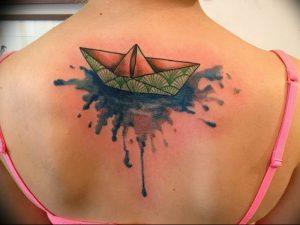 Фото рисунка тату оригами 12.10.2018 №140 - origami tattoo - tattoo-photo.ru