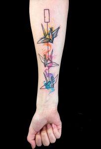 Фото рисунка тату оригами 12.10.2018 №147 - origami tattoo - tattoo-photo.ru