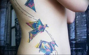 Фото рисунка тату оригами 12.10.2018 №154 - origami tattoo - tattoo-photo.ru