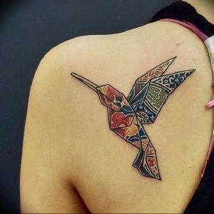 Фото рисунка тату оригами 12.10.2018 №158 - origami tattoo - tattoo-photo.ru