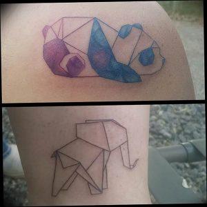 Фото рисунка тату оригами 12.10.2018 №166 - origami tattoo - tattoo-photo.ru