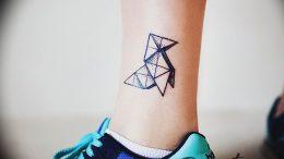 Фото рисунка тату оригами 12.10.2018 №177 - origami tattoo - tattoo-photo.ru