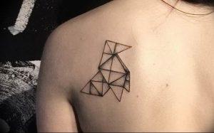 Фото рисунка тату оригами 12.10.2018 №180 - origami tattoo - tattoo-photo.ru