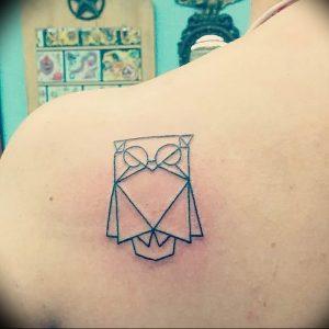 Фото рисунка тату оригами 12.10.2018 №184 - origami tattoo - tattoo-photo.ru