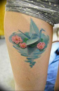 Фото рисунка тату оригами 12.10.2018 №201 - origami tattoo - tattoo-photo.ru
