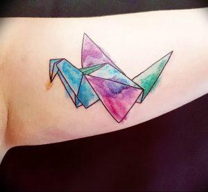 Фото рисунка тату оригами 12.10.2018 №204 - origami tattoo - tattoo-photo.ru
