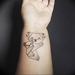 Фото рисунка тату оригами 12.10.2018 №211 - origami tattoo - tattoo-photo.ru
