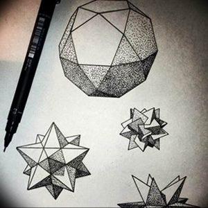 Фото рисунка тату оригами 12.10.2018 №213 - origami tattoo - tattoo-photo.ru