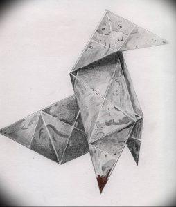 Фото рисунка тату оригами 12.10.2018 №214 - origami tattoo - tattoo-photo.ru