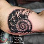 Фото рисунка тату ракушка 12.10.2018 №037 - tattoo shell - tattoo-photo.ru