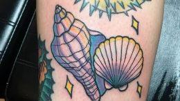 Фото рисунка тату ракушка 12.10.2018 №138 - tattoo shell - tattoo-photo.ru