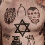 Фото рисунка тату шестиконечная звезда 12.10.2018 №022 - tattoo six poin - tattoo-photo.ru