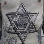 Фото рисунка тату шестиконечная звезда 12.10.2018 №052 - tattoo six poin - tattoo-photo.ru