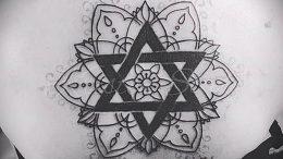 Фото рисунка тату шестиконечная звезда 12.10.2018 №054 - tattoo six poin - tattoo-photo.ru