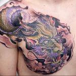 Фото татуировки дракон от 24.09.2018 №010 - dragon tattoo - tattoo-photo.ru