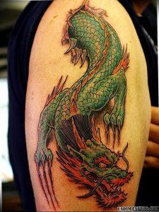 Фото татуировки дракон от 24.09.2018 №015 - dragon tattoo - tattoo-photo.ru