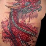Фото татуировки дракон от 24.09.2018 №055 - dragon tattoo - tattoo-photo.ru