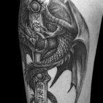 Фото татуировки дракон от 24.09.2018 №072 - dragon tattoo - tattoo-photo.ru