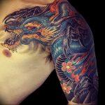 Фото татуировки дракон от 24.09.2018 №073 - dragon tattoo - tattoo-photo.ru