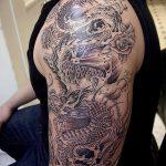 Фото татуировки дракон от 24.09.2018 №076 - dragon tattoo - tattoo-photo.ru