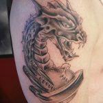 Фото татуировки дракон от 24.09.2018 №092 - dragon tattoo - tattoo-photo.ru