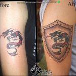 Фото татуировки дракон от 24.09.2018 №096 - dragon tattoo - tattoo-photo.ru