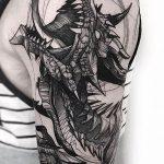 Фото татуировки дракон от 24.09.2018 №099 - dragon tattoo - tattoo-photo.ru