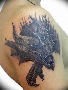 Фото татуировки дракон от 24.09.2018 №188 - dragon tattoo - tattoo-photo.ru