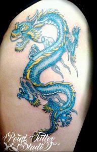 Фото татуировки дракон от 24.09.2018 №204 - dragon tattoo - tattoo-photo.ru