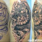 Фото татуировки дракон от 24.09.2018 №206 - dragon tattoo - tattoo-photo.ru