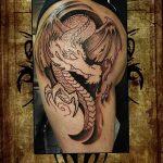 Фото татуировки дракон от 24.09.2018 №214 - dragon tattoo - tattoo-photo.ru