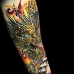 Фото татуировки дракон от 24.09.2018 №216 - dragon tattoo - tattoo-photo.ru