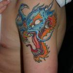 Фото татуировки дракон от 24.09.2018 №231 - dragon tattoo - tattoo-photo.ru