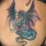 Фото татуировки дракон от 24.09.2018 №243 - dragon tattoo - tattoo-photo.ru