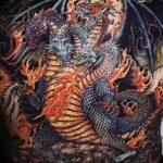 Фото татуировки дракон от 24.09.2018 №252 - dragon tattoo - tattoo-photo.ru