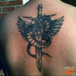 Фото татуировки дракон от 24.09.2018 №307 - dragon tattoo - tattoo-photo.ru
