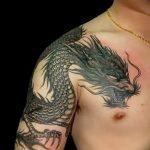Фото татуировки дракон от 24.09.2018 №316 - dragon tattoo - tattoo-photo.ru