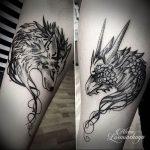 Фото татуировки дракон от 24.09.2018 №320 - dragon tattoo - tattoo-photo.ru