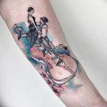 Фото тату Виолончель 26.10.2018 №007 - photo tattoo cello - tattoo-photo.ru