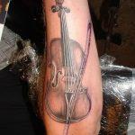 Фото тату Виолончель 26.10.2018 №010 - photo tattoo cello - tattoo-photo.ru