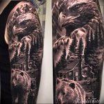 Фото тату беркут 10.10.2018 №056 - tattoo eagle - tattoo-photo.ru