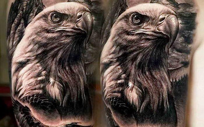 Фото тату беркут 10.10.2018 №069 - tattoo eagle - tattoo-photo.ru
